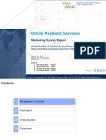 Involvement in Online Payment Services Management Report