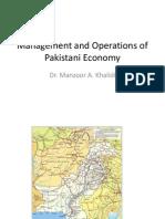 MAPS Management and Operations of Pakistani Economy