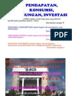 Pendapatan Konsumsi Tabungan Investasi
