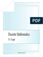 Discrete Mathematics - Logic
