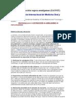 Protocolo extracción segura amalgamas