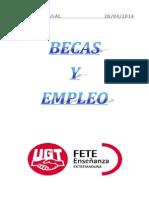 Boletín de Becas y Empleo. Semana Del 28 de Abril de 2014