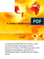 Country analysis Germany