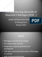 The Slow Burning Genocide of Myanmar Rohingya