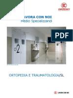 LAVORA CON NOI Medici Specializzandi - Ortopedia e Traumatologia (SL)
