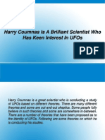 Harry Coumnas Is A Brilliant Scientist Who Has Keen Interest In UFOs