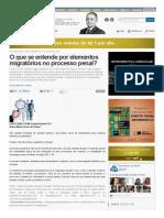 O Que Se Entende Por Elementos Migratórios No Processo Penal_ _ Luiz Flávio Gomes