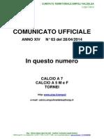 C.U.N.63 del 28-04-2014