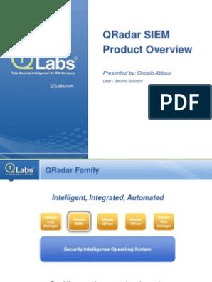 QRadar SIEM Product Overview Presentation | Threat (Computer