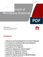 Alignment of the Microwave Antennas