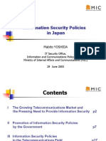 Information Security Policies in Japan