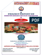 marketing project report on haldiram's