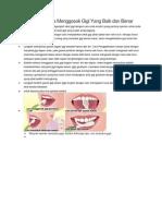 Gambar Dan Cara Menggosok Gigi Yang Baik Dan Benar