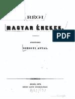 Somogyi Antal - Régi Magyar Énekek, 1. kötet 1873.