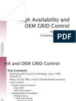 Ha and Oem Grid Control