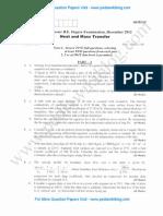 Heat & Mass Transfer December 2012 (2006 Scheme)