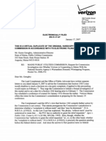 Verizon Wiretapping - Verizon Letter