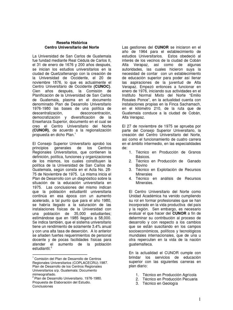 CATALOGO DE ESTUDIOS CUNOR