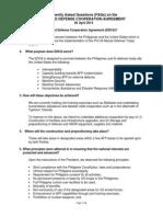 PH-US Enhanced Defense Cooperation Agreement FAQs