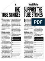 Support the Tube Strikes A5