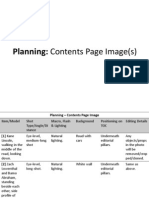 image plan - contents page