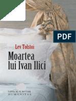 Lev Nicolaevici Tolstoi Moartea Lui Ivan Ilici