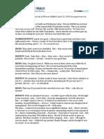 Warren Buffett Live CNBC Interview Transcript, April 23, 2014