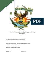 Crecimiento y Desarrollo Economico de Mexico