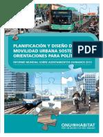 Planificacion y Diseño de Una Movilidad Urbana Sostenible Onu2013