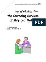 Manual for DV Counselling Workshop January 09