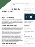 Briefing – O Que é, Como Fazer