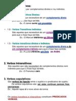 Verbos Transitivos Intransitivos e Copulativos