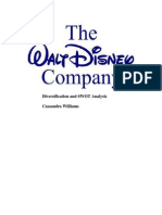 disney diversification and swot analysis