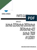 Bizhu423 363 283 223PartsManual