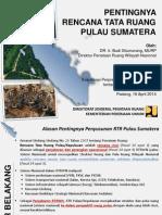 Pentingnya RTR Pulau Sumatera