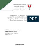 Vera Teran Sariela - Importancia Del Tamizado en La Industria de Los Catalizadores Metalicos