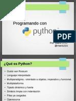 Programando con Python en 3 sesiones
