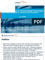 From Emerging to Submerging Economies New Policy Challenges for Research and Innovation