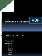 Reading & Comprehension