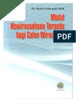 Modul Kwu Terpadu Bagi Calon Wirausaha