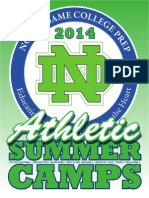 Notre Dame College Prep Summer Camps 2014 Brochure 2014 PDF