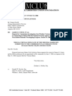 Verizon Wiretapping - MCLU Supports Request for Opportunity to File Comments By June 2, 2006