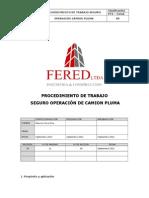 PTS-Operación de Camión Pluma Fered Ltda