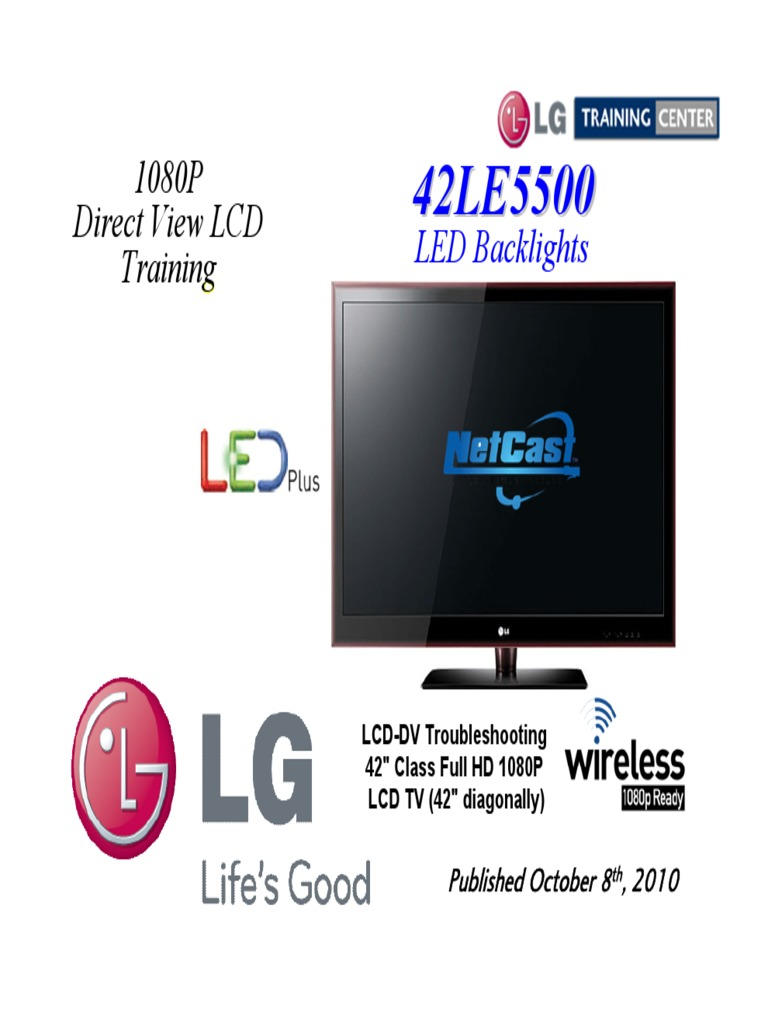 129365427-LG-42LE5500-Training-Manual | Electrostatic Discharge | Power  Supply