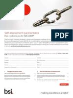 BSI ISO 22301 Self Assesment Checklist