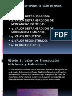 MÉTODOS PARA DETERMINAR EL VALOR EN ADUANA.ppt