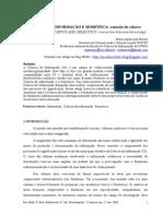 CIÊNCIA DA INFORMAÇÃO E SEMIÓTICA; Conexão de Saberes - Autora Maria Aparecida Moura Grifado