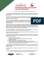 Criterios Selección Natación 2014 - 2015