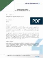 Informacion Del Curso Taller Integral Basico IRIS 4.0