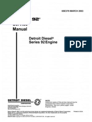 detroit diesel 6v92 series 6se379 march2003 internal combustion 6V92 Turbo